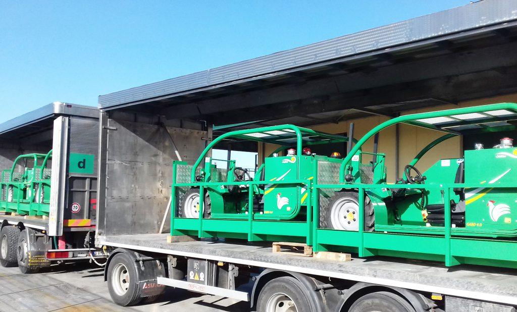 Forklift Poultry Gabo: carrello elevatore avicoltura. Soltec progetta carrelli elevatori a forche per pollami che sono compatti leggeri agile e affidabile. Italia regione Marche abruzzo San Benedetto del Tronto